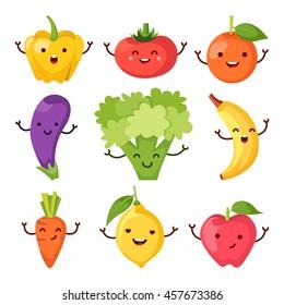 Healty food cartoon representing icons set