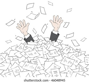 In heap of documents