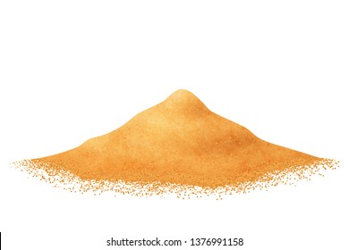Heap of sand vector isolated.