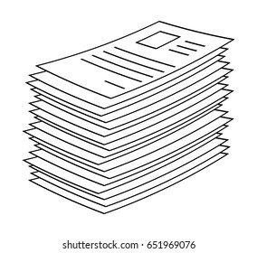 heap, stack of paper document file web icon vector symbol icon design.  Beautiful illustration isolated on white background