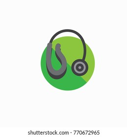 Hearing aid icon with a wraparound ear wire and ear canal piece