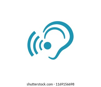 Hearing Logo Template vector icon design
