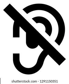 Hearing Loss Quiet Vector Icon