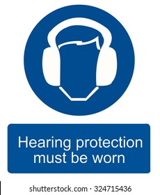 Hearing protection sign-vector