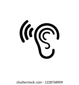 hearing sound simple icon