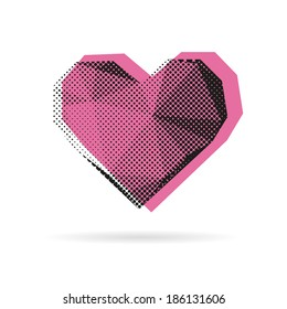 Heart abstract isolated on a white background, vector illustration