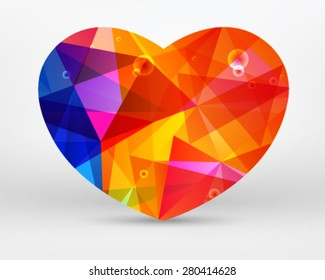 Heart abstract on a white background