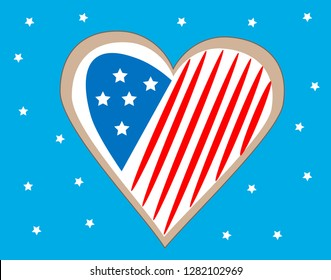 heart of american flag