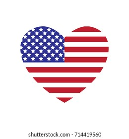 Heart American Flag.  Suitable for wall art, handmade craft items, stationery, invitations, cards, handmade cards, announcements, scrapbook, graphic and web design...