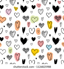 Heart background for fashion - seamless heart shape texture. Love vector.