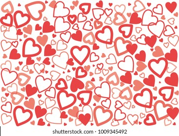 Heart background image Express love Suitable for all festivals, especially Valentine's Day.