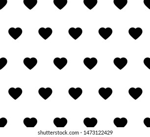 heart background Seamless. love background vector black