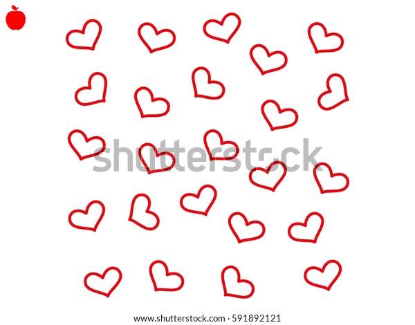 heart, background, wallpaper, icon, vector illustration eps10