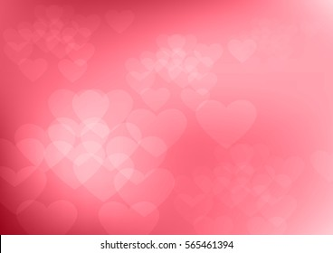 Heart backgrounds valentines day in vector format