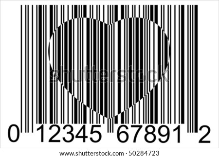 Heart Barcode Icon Useful Bar Code Stock Vector Royalty Free