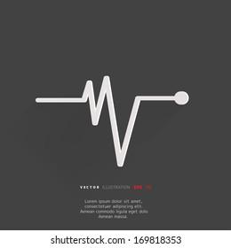 Heart beat, cardiogram. Pulse icon