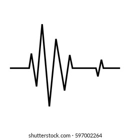heart beat ekg line