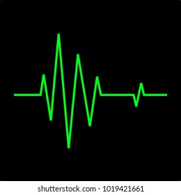 heart beat ekg line, EKG Monitor. Green line shows the heart beat.