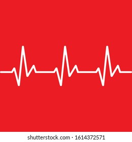 Heart beat line monitor icon isolated on white background. Vector illustration. Eps 10.