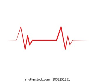 heart beat line vector ilustration