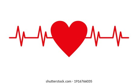 Heart beat pulse vector illustration.