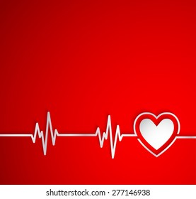 Heart Beat With ShapeUseful As Medical Background