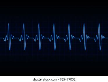 Heart beats cardiogram background - Vector
