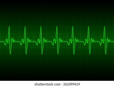 Heart beats cardiogram - Vector