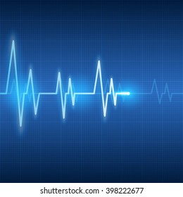 heart beats on health care and medical abstract background vector illustration