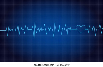 Heart beats or pulse (vector graphic)