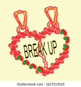 heart break up locket is a pendant that  open to reveal a space used for love emotion.Locket is usually given to loved one on holiday such as Valentine's day and occasions such as christmas,weddings.