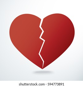 the heart breaking icon vector