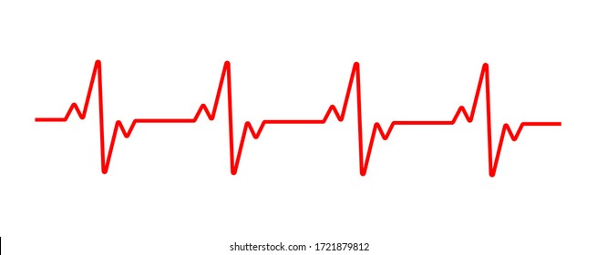 Heart cardiogram line. Vector illustration