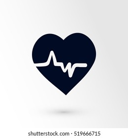 heart cardiology icon, 