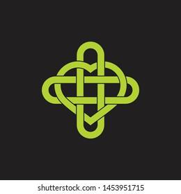 heart care love medical symbol decoration vector