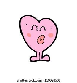 heart cartoon character