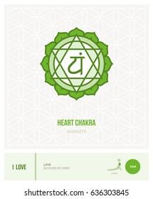 Heart chakra Anahata: chakras, energy healing and yoga poses infographic