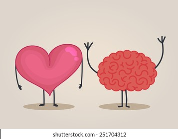 Heart character & Brain character