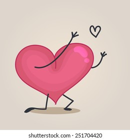 Heart character in-love