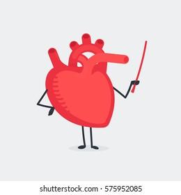 Heart character vector illustration