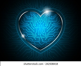 heart circuit abstract technology background