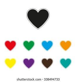 Heart - color vector icon
