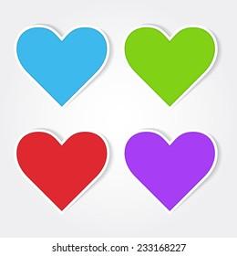 Heart Colorful Vector Icon Design