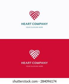 Heart Company love flat logo