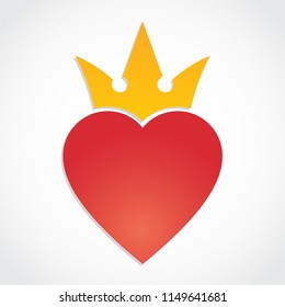 heart with crown symbol