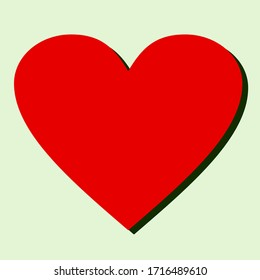 heart design with flat style. illustration of a heart in a flat style.