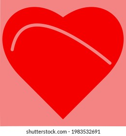 Heart design. Hollow heart. Stylish heart. Heart vector