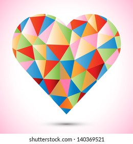 Heart design - retro vector eps10