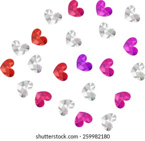 heart diamond decoration  vector