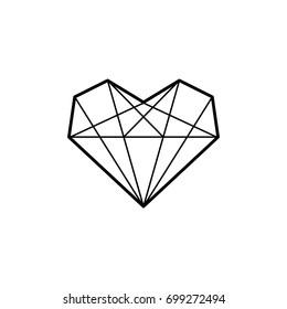 Heart diamond icon